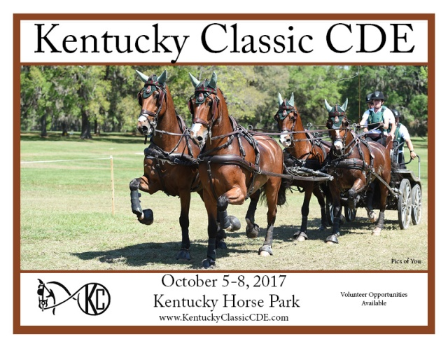 Are you ready for the KY Classic CDE, October 5-8, 2017?